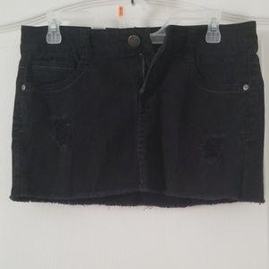 Black Jean mini skirt wallflower size 7